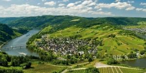 Uitzicht over de Moezel, Duitsland