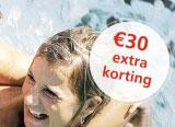 € 30 extra korting op je vakantie!