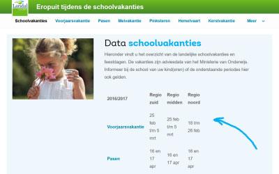 Extra aantrekkelijke boekingsprijzen buiten de schoolvakanties