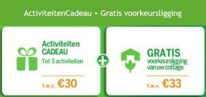 Center Parcs Vroege Vogel Voordelen: Gratis extra's t.w.v. € 63