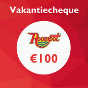 Gratis Roompot Vakantiecheque, Tot € 100 extra Roompot korting!