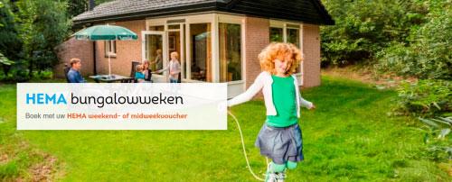 HEMA Bungalowweken: Dat betekent dat u Landal Bungalowvouchers kunt kopen bij HEMA voor een weekend of midweek