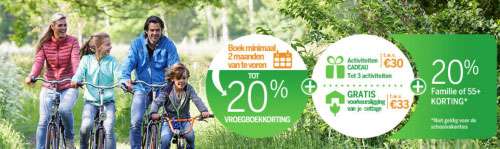 Center Parcs: 20% Familiekorting