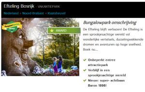 Boek verblijf bij Efteling Bosrijk incl. entreekaartjes