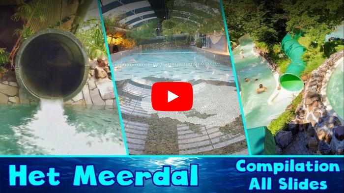 Video met alle glijbanen van zwembad aqua mundo center parcs het meerdal