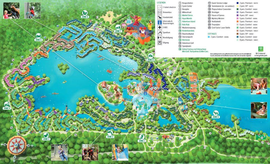 Plattegrond Center Parcs De Huttenheugte PDF