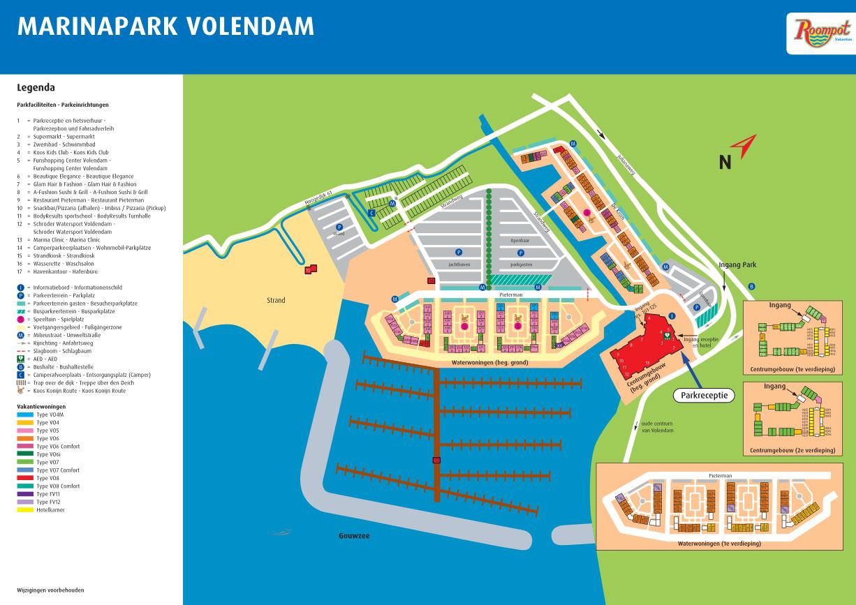 Plattegrond Roompot Marinapark Volendam