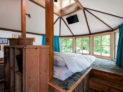 Slaapkamers, boomhut Landal Miggelenberg