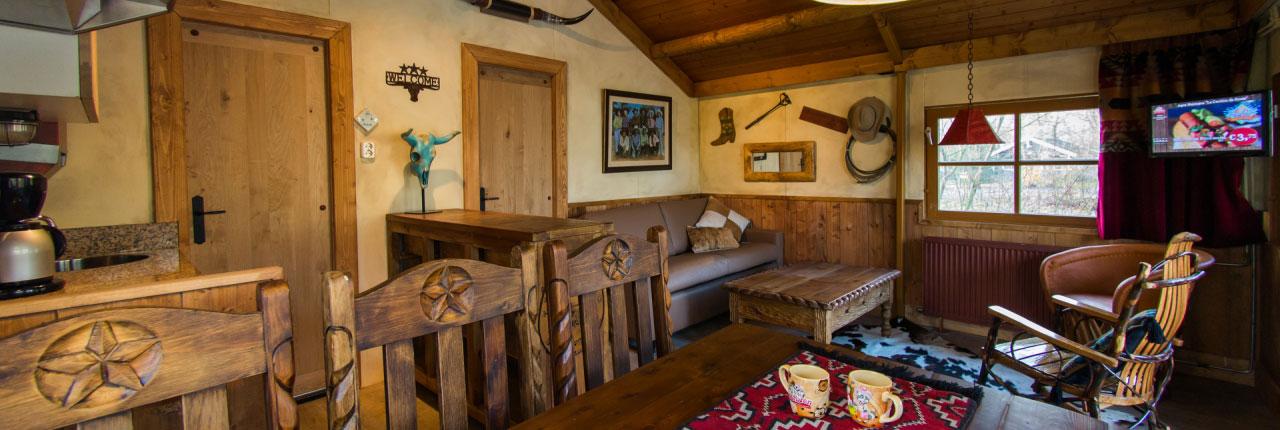 Ook de Cowboy Cottages zijn vrij nieuw