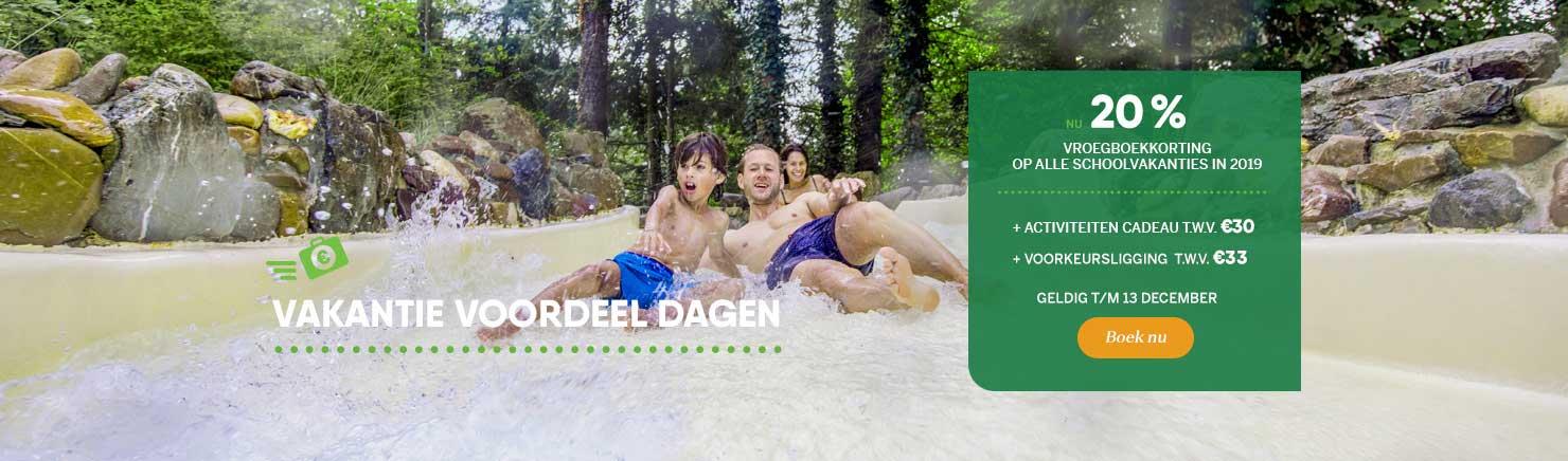 Vakantie Voordeeldagen: Vroegboekkorting schoolvakanties 2019