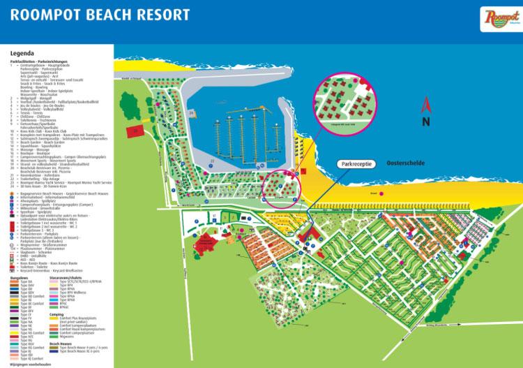Plattegrond Roompot Beach Resort