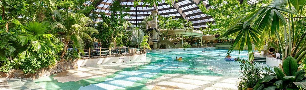 In het prachtige subtropisch zwemparadijs van Center Parcs De Kempervennen kun je prima zelf een Nieuwjaarsduik organiseren voor jou en je familie.