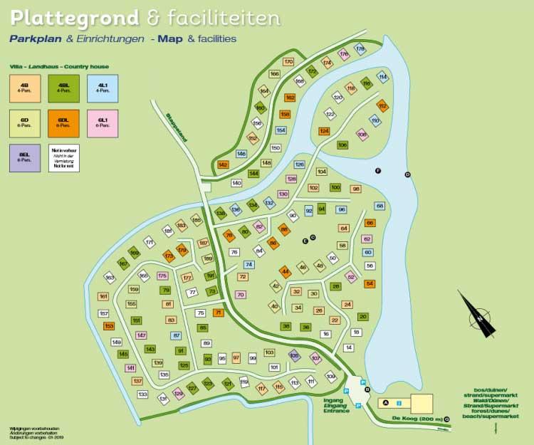 Plattegrond Landal Beach Park Texel