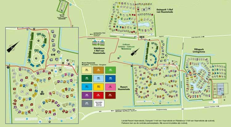 Plattegrond Landal Resort Haamstede