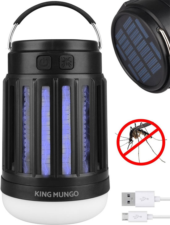 LED Campinglamp en Anti-Muggenlamp 2-in-1 KMCL004 King Mundo