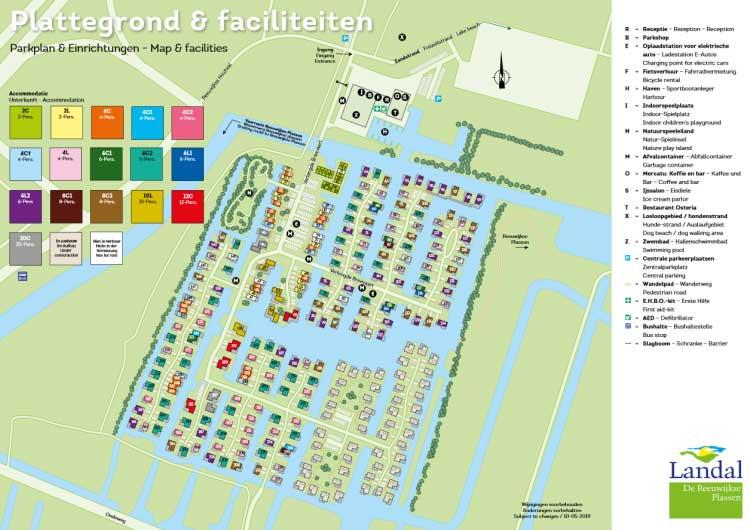 Plattegrond Landal De Reeuwijkse Plassen