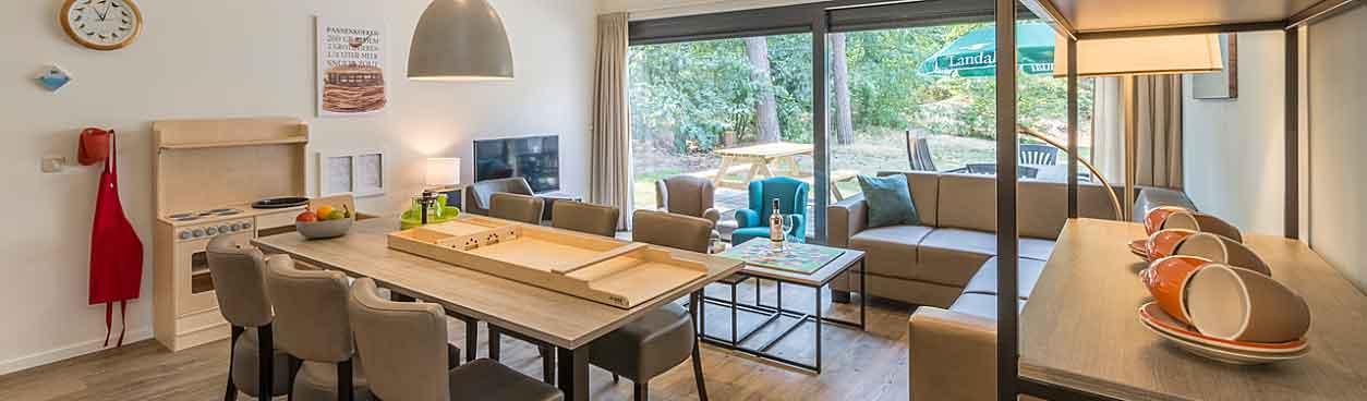 Landal Het Vennenbos heeft haar bungalows vernieuwd en hebben nu een modern design en hebben meer comfort, bijvoorbeeld de 6-Persoonskinderbungalow 6CK.