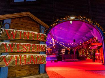 Winter Western Village is een schaatsbaan waar je tijdens de Winter Slagharen veel schaatsplezier kunt hebben