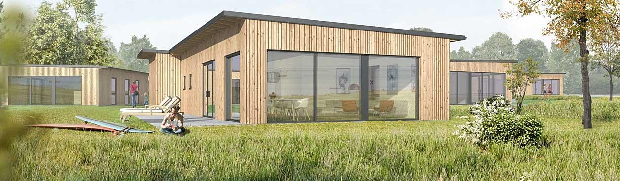 Voorbeeld van een cottage op het nieuwe Center Parcs vakantiepark in Denemarken